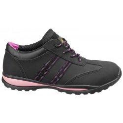 Amblers FS47 Black/Pink Ladies Safety Trainers