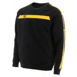 CAT Icon Stripe Crew Neck Sweatshirt