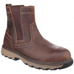 CAT Pelton Dark Beige Dealer Safety Boots