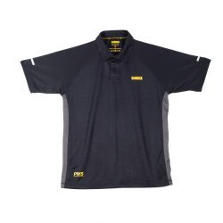 DeWalt Rutland Black Grey PWS Polo Shirt