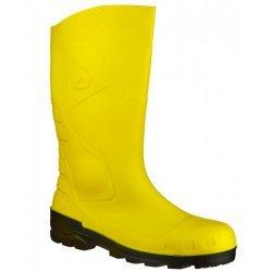 Dunlop Devon Yellow Black Safety Wellingtons