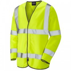 Leo Workwear Shirwell Yellow Hi Vis Sleeved Waistcoat