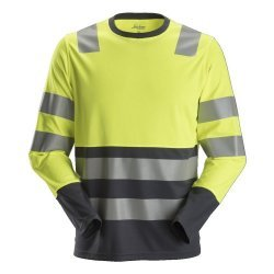 Snickers 2433 AllroundWork Hi-Vis Long Sleeve T-Shirt CL2