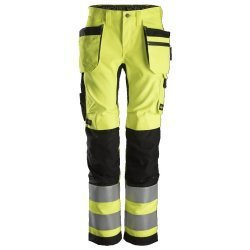 Snickers 6730 AllroundWork Womens Hi-Vis Trousers Holster Pockets
