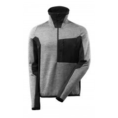 Mascot ADVANCED Fleece Jumper with half zip - Grey Toned/Black