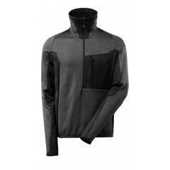 Mascot ADVANCED Fleece Jumper with half zip - Dark Anthracite/Black