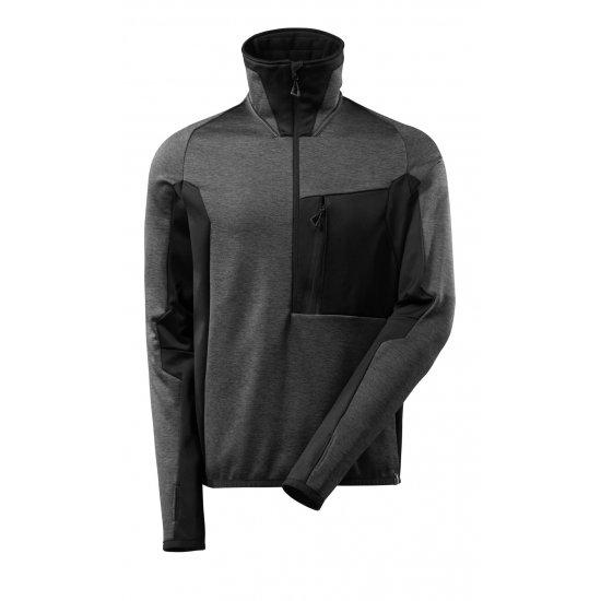 Mascot ADVANCED Fleece Jumper with half zip - Dark Anthracite/Black