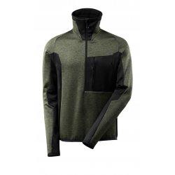 Mascot ADVANCED Fleece Jumper with half zip - Moss Green/Black