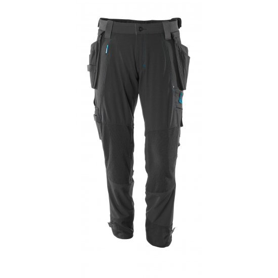 Mascot ADVANCED Trousers with kneepad pockets and holster pockets  - Black