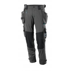 Mascot ADVANCED Trousers with kneepad pockets and holster pockets  - Dark Anthracite