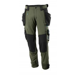 Mascot ADVANCED Trousers with kneepad pockets and holster pockets  - Moss Green