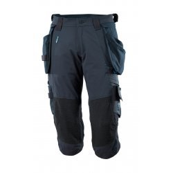 Mascot ADVANCED ¾ Length Trousers with kneepad pockets and holster pockets - Dark Navy