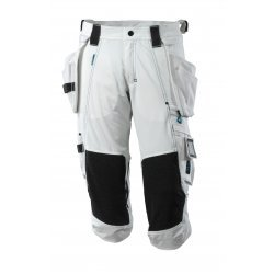 Mascot ADVANCED ¾ Length Trousers with kneepad pockets and holster pockets - White
