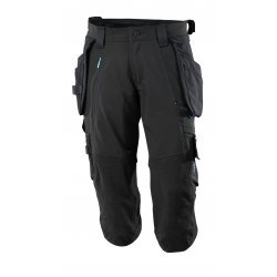 Mascot ADVANCED ¾ Length Trousers with kneepad pockets and holster pockets - Black