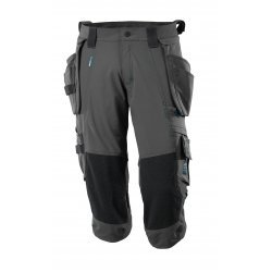 Mascot ADVANCED ¾ Length Trousers with kneepad pockets and holster pockets - Dark Anthracite