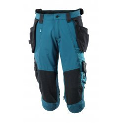 Mascot ADVANCED ¾ Length Trousers with kneepad pockets and holster pockets - Dark Petroleum