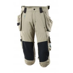 Mascot ADVANCED ¾ Length Trousers with kneepad pockets and holster pockets - Light Khaki