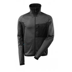 Mascot ADVANCED Fleece Jumper with zipper - Dark Anthracite/Black