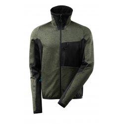 Mascot ADVANCED Fleece Jumper with zipper - Moss Green/Black