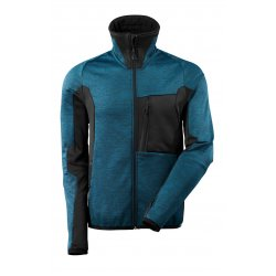 Mascot ADVANCED Fleece Jumper with zipper - Dark Petroleum/Black