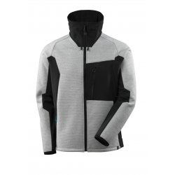 Mascot ADVANCED Knitted Jacket with zipper - Grey Toned/Black