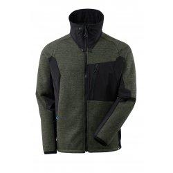 Mascot ADVANCED Knitted Jacket with zipper - Moss Green/Black