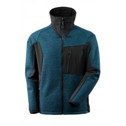 Mascot ADVANCED Knitted Jacket with zipper - Dark Petroleum/Black