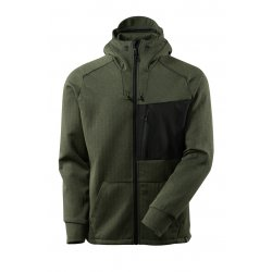 Mascot ADVANCED Hoodie with zipper - Moss Green/Black