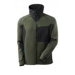 Mascot ADVANCED Sweatshirt with zipper - Moss Green/Black