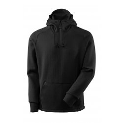 Mascot ADVANCED Hoodie with half zip - Black