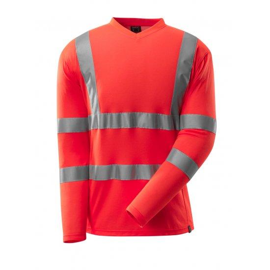 Mascot SAFE CLASSIC T-shirt, long-sleeved - Hi-Vis Red