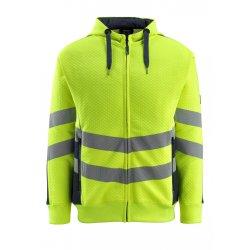 Mascot SAFE SUPREME Hoodie with zipper - Hi-Vis Yellow/Dark Navy