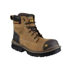 CAT Gravel Brown Safety Boots