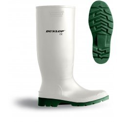 Dunlop 380BV Pricemaster White Wellingtons