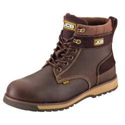 JCB 5CX Brown Safety Boots