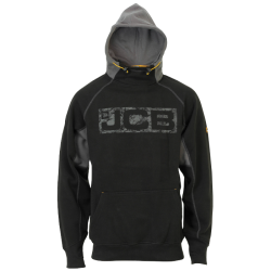JCB Workwear Mens HORTON Black Heavyweight Hoodie