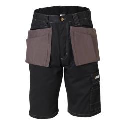 JCB Workwear Keele Black/Grey Shorts