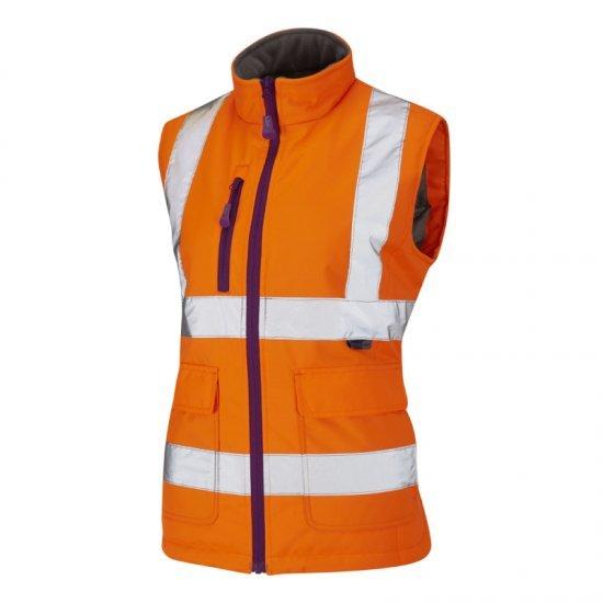 Leo Workwear Sandymere Class 1 Orange Hi Vis Bodywarmer