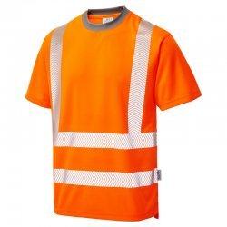 Leo Workwear Larkstone Hi Vis Orange T-Shirt