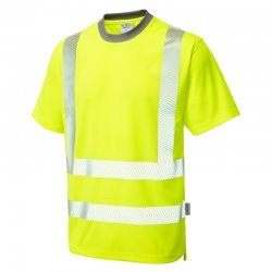 Leo Workwear Larkstone Hi Vis Yellow T-Shirt