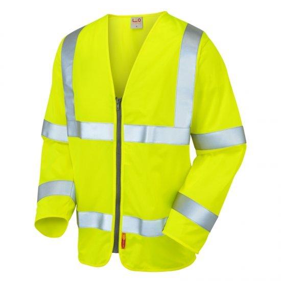 Leo Workwear Merton Hi Vis Fire Retardant Yellow Waistcoat