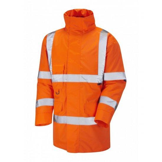 Leo Workwear Tawstock Class 3 GO/RT Orange Anorak