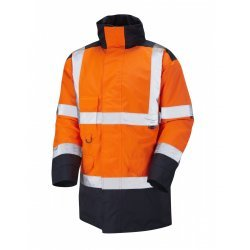 Leo Workwear Tawstock Class 3 Orange/Navy Anorak