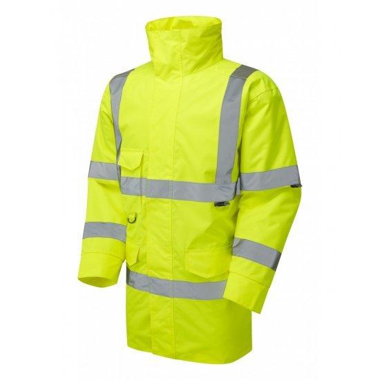 Leo Workwear Tawstock Class 3 Yellow Anorak