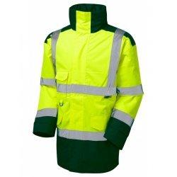 Leo Workwear Tawstock Class 3 Yellow/Bottle Anorak