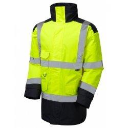 Leo Workwear Tawstock Class 3 Yellow/Navy Anorak