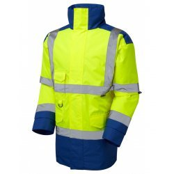 Leo Workwear Tawstock Class 3 Yellow/Royal Anorak