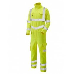 Leo Workwear Molland Class 3 Yellow Poly/Cotton Coverall