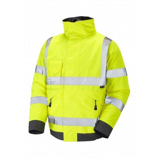 Leo Workwear Chivenor Class 3 Yellow Hi Vis Waterproof Bomber Jacket