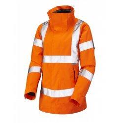 Leo Workwear Rosemoor Class 3 GO/RT Orange Ladies Breathable Jacket